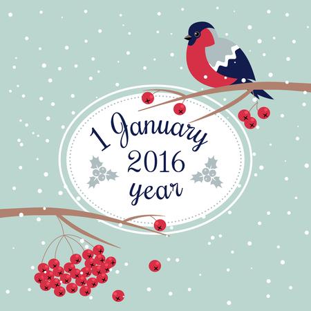 january 1: 1 january vector illustration  Illustration