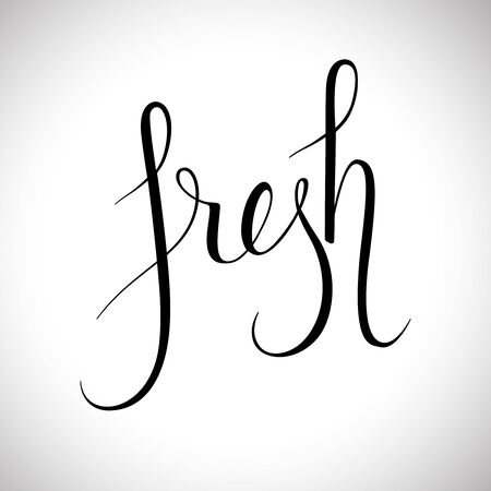typography signature: Fresh word lettering. calligraphy