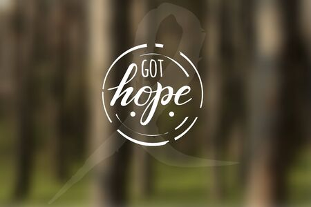 got: Inspirational Typographic Quote - Got hope. illustration.