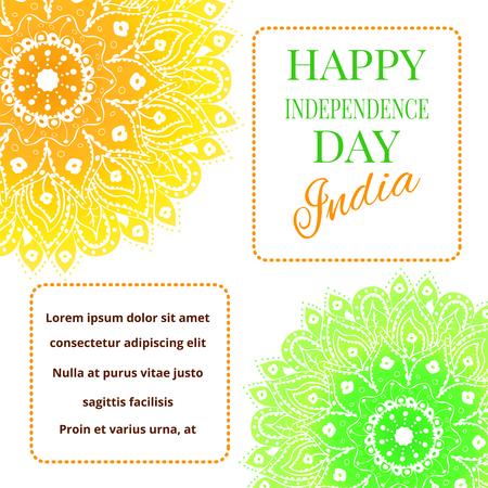 Ilustración Del Vector Para El Día De La Independencia De La India ...