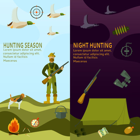 cap hunting dog: Hunting related illustration.