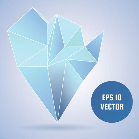 Abstract crystal illustration. Illustration