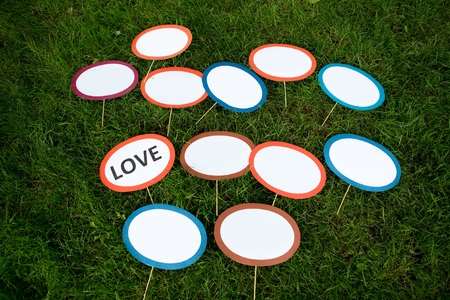Funny oval paper tablets for girl party, inscriptions in Russian and English: I give my friend in marriage, she said yes, I am going to get married, do not wait back, this evening is ours, soon dances