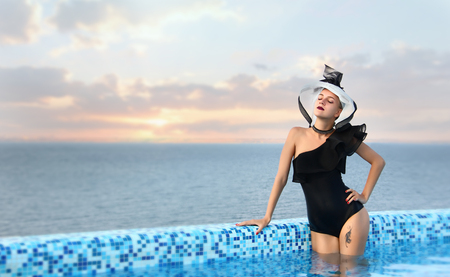 Woman summer vocation, travel  relax near sea