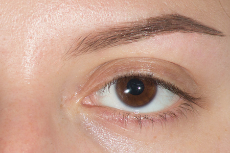 Expressive, significant eye, perfect shape of eyebrow after correction, beauty salon, pull out, have hair thinned out, care, review of the eyes, light brown coloring, natural, procedure.