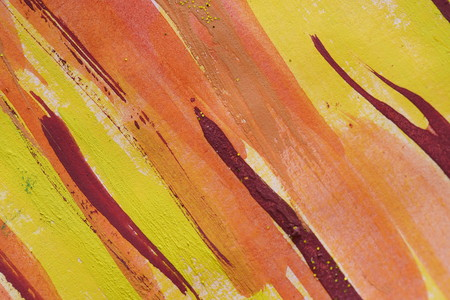 Abstract watercolor background diagonal red lines. Streams of paints on embossed paper. Modern textured arts. Paint stream. Bright colours shiny acrylic gouache oil watercolor. Dynamic drops design Stock fotó