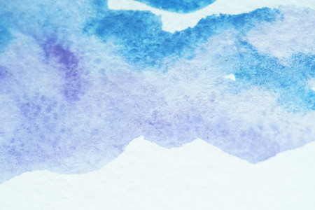 Abstract watercolor background, blue sky, mountains. Streams of paints on embossed paper. Modern textured arts. Paint stream. Bright colours shiny acrylic gouache oil watercolor. Dynamic drops design Stock fotó