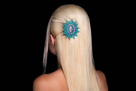 long blond hair Stock fotó