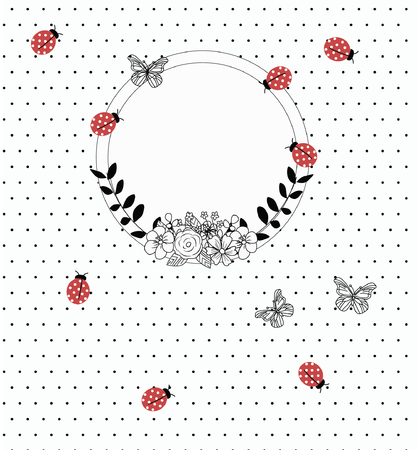 vectro: vector background with text frame Illustration