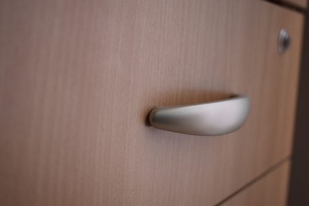 Detail of drawer handle Stock Photo