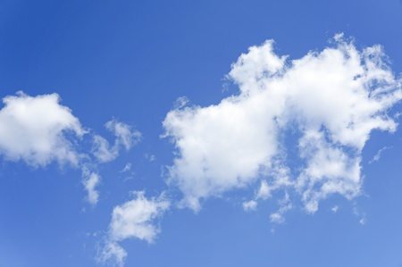 curly headed: The blue sky with white clouds in sunny clear day