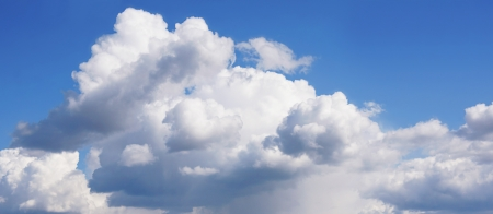 curly headed: The blue sky with storm clouds  The sky before a rain  Stock Photo