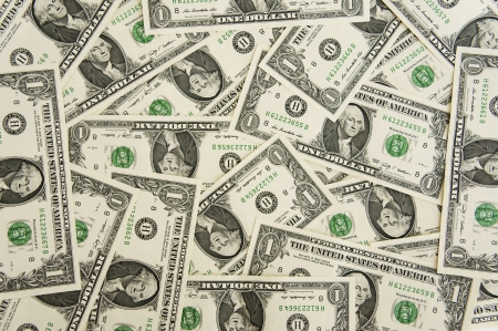 largely: Background from money largely  1 dollar