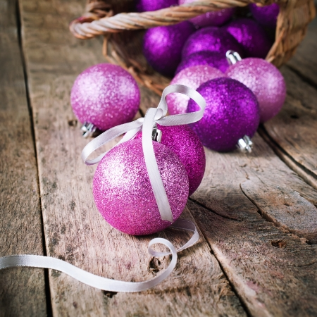 Composition with Brilliant Pink Christmas Ball