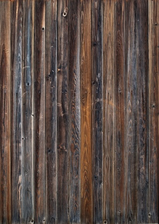 Old Wooden Planks in the Row on Panel, color background photo