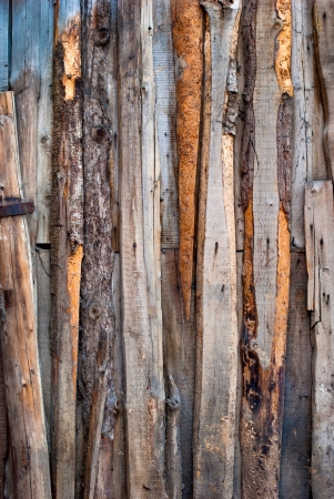 Various Wooden Color Planks beaten on a wall,  background photo