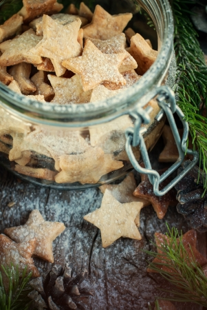 Ginger Christmas Cookies Stars in the jar photo