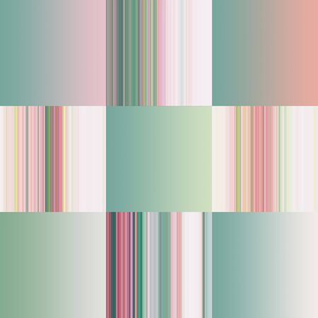tranquillity: Set of colorful pastel abstract gradients and strips.Pink, Scarlet, Green. Illustration. backgrounds with spring colors