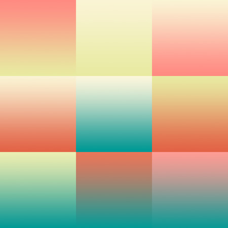 hue: Set of colorful pastel abstract backgrounds gradients. For mobile app, book cover, booklet, background, poster, web sites, annual reports. Illustration Stock Photo