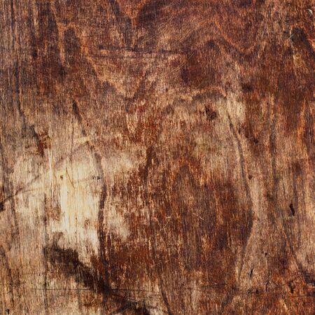 splintered: Old Brown Cracked Veneer. Wood Vintage Background