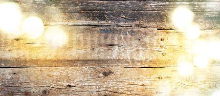 luminosity: Festive Bright Light on Old Vintage Wooden Background. Luminosity spots of light