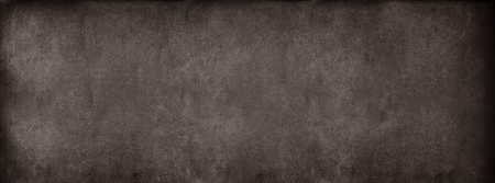 erased: Brown Classroom Blackboard Background. Chalk Erased School Chalkboard Vintage Texture. Long format Stock Photo
