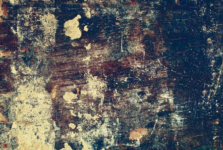 hammered: Old Antique Damaged Wooden Plywood Panel Hammered Rusty Nails Edge Brown Paint Colored Vintage
