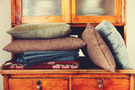 throw cushion: Pillows Lie Regiment Buffet House Furniture Storage Interior Retro Toned