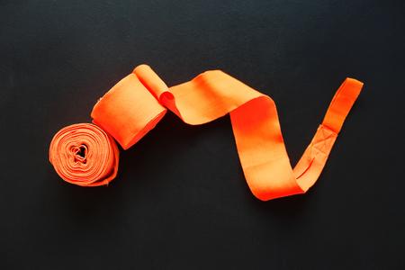 Bandage for Thai Boxing on Grey Background Sport Equipment
