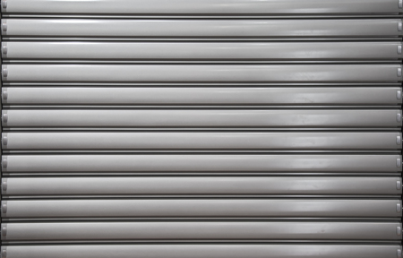 Metal door or window blind texture background.