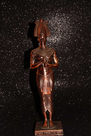 Bronze statuette of the Egyptian Tutankhamun. Figure of the Pharaoh. Stock Photo