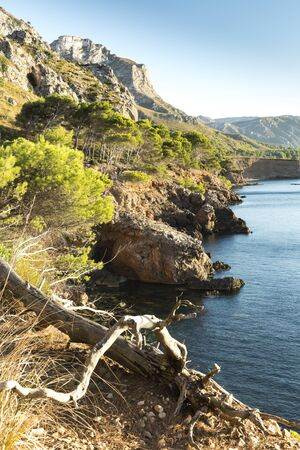 Cales de Betlem is an area of small coves of sand, stone and rock located on the entire coast of the village of Betlem, Artà. Palma de Mallorca / Spain Banco de Imagens