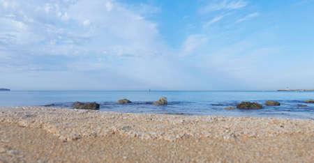 Watching a serene sunrise on the beach of Can Pastilla, Mallorca Spain