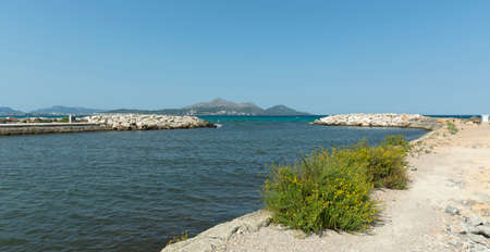 Mouth of the Siruana Channel to the Bay of Alcudia, in the Natural Park of s'Albufera Banco de Imagens