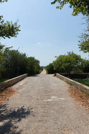 Sta. Margalida bridge and part of the Ses Puntes path, which allows a circular route of the Natural Park of s'Albufera in Mallorca