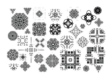 vintage backgrounds: Ornamental vintage symbols for the page decoration.