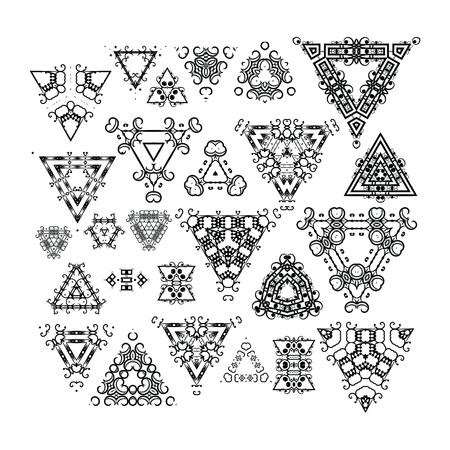 fashion design: Ornamental vintage symbols for the page decoration.