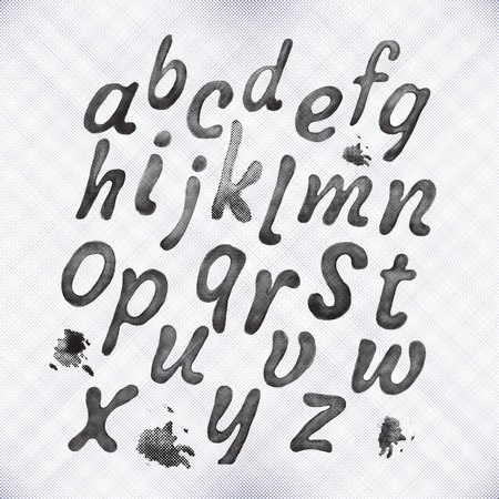 netty: English alphabet set.