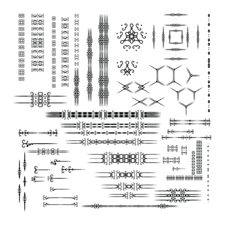 dingbat: Designers toolkit set.  Illustration