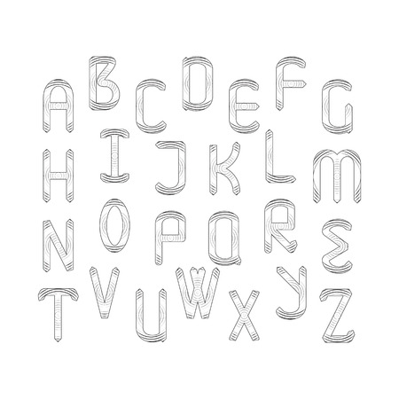English alphabet set.