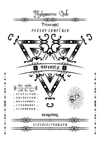 Rock of metal muziek concert poster sjabloon.