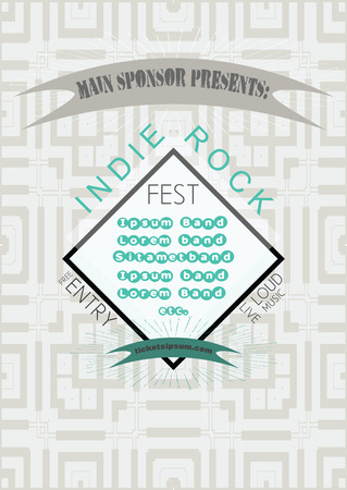 indie: Indie rock music concert poster template.