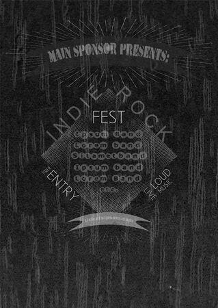 indie: La m�sica rock plantilla de cartel del concierto Indie. Vectores