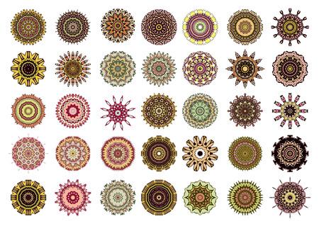 identidad cultural: símbolos étnicos de identidad cultural para la decoración de la página. Ilustración del vector. Aislado en el fondo blanco.