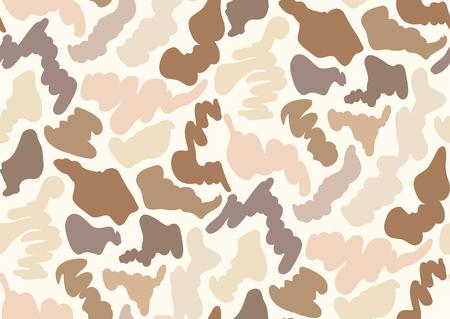 Patrón transparente de camuflaje en tonos beige, gris, marrón, marrón, colores beige.