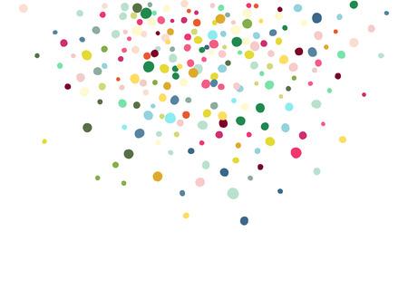 空気紙吹雪舞うカラフルな抽象的な。白い背景上に分離。