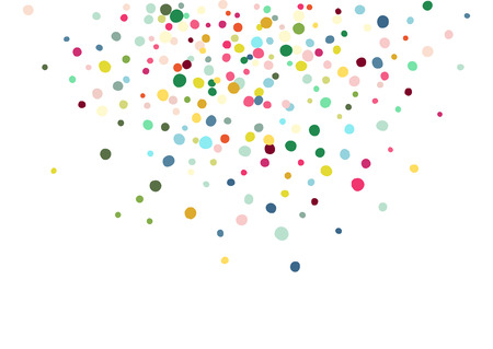 Abstract colorful flying in the air confetti. Isolated on the white background. Ilustracja