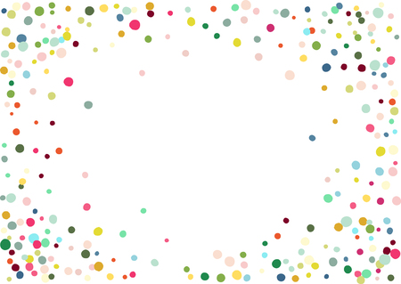 Abstract colorful flying in the air confetti. Isolated on the white background. Vectores