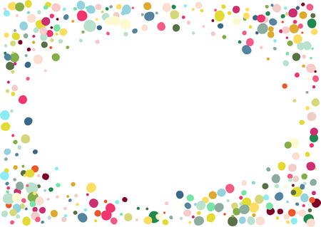 Abstract colorful flying in the air confetti. Isolated on the white background. Illustration