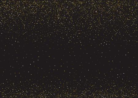 Kerstmis, nieuwjaarskaartmalplaatje met abstracte gouden ster gevormde confettienachtergrond.